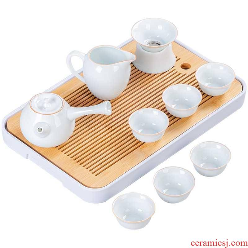 Sea water day pattern sitting room bamboo kung fu tea tray tea tea sets modern household contracted tray was small tea table