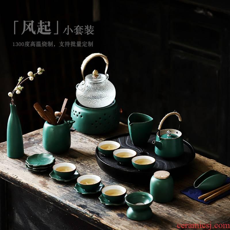 ShangYan home tea tea set contracted tea tray teapot teacup kettle ceramic tea set, modern