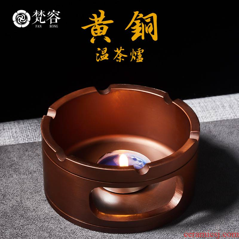 Vatican RongChun copper warm tea ware alcohol furnace heating insulation base charcoal stove'm scented tea kettle boiled tea, the tea stove