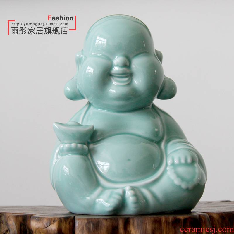 The rain tong home | checking porcelain ceramic creative hand - made meditation monk home furnishing articles study arts and crafts