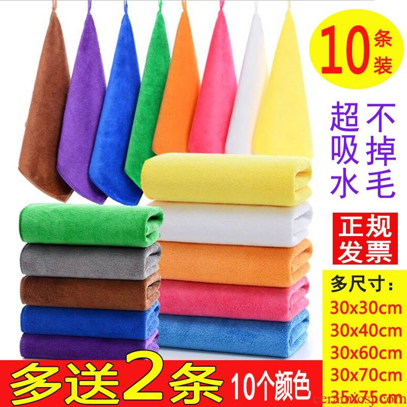 Suction 40 more brown car cloth towel square shaker 10 blue green tea milk tea shop