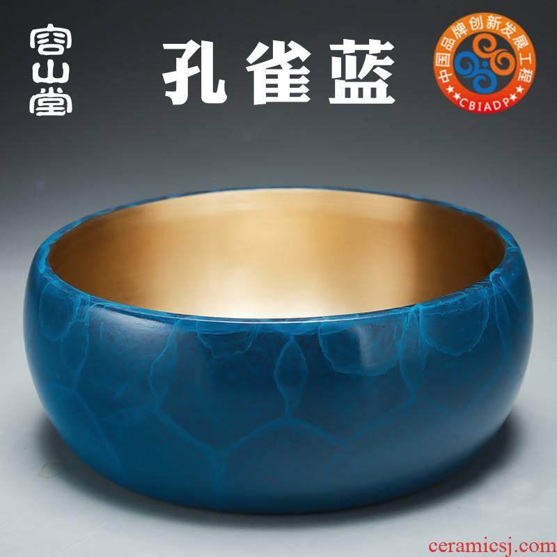 Vatican RongChun copper bowl in hot water to wash the tea tea wash cup barrels to build water tea table tea six gentleman accessories