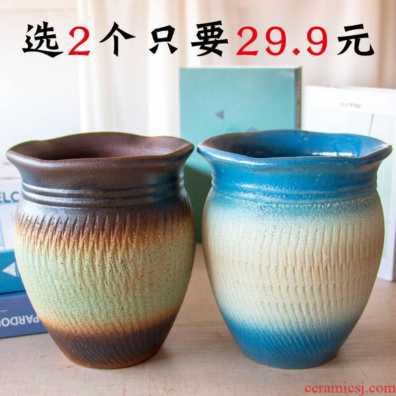 More meat flowerpot More than coarse pottery rose violet arenaceous money plant orchid the plants ceramic mage old running heavy pot POTS