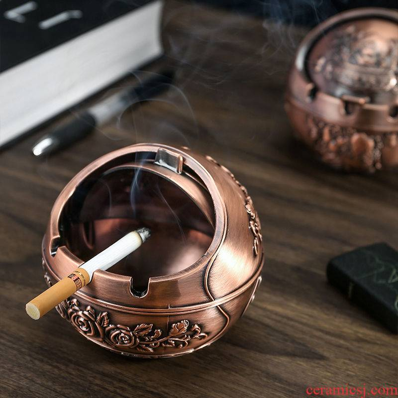 Rhinoceros, creative European - style ashtray home bedside move web celebrity drop restoring ancient ways with cover office sitting room tea table