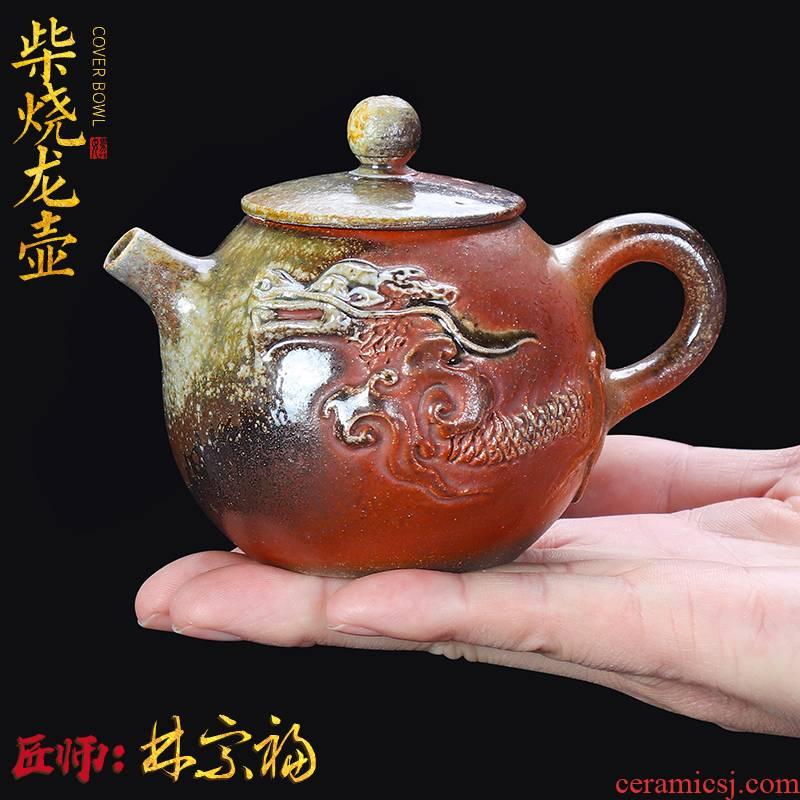 Artisan fairy Lin Zongfu master restoring ancient ways to burn pot of household ceramic tea, pure manual single pot small teapot