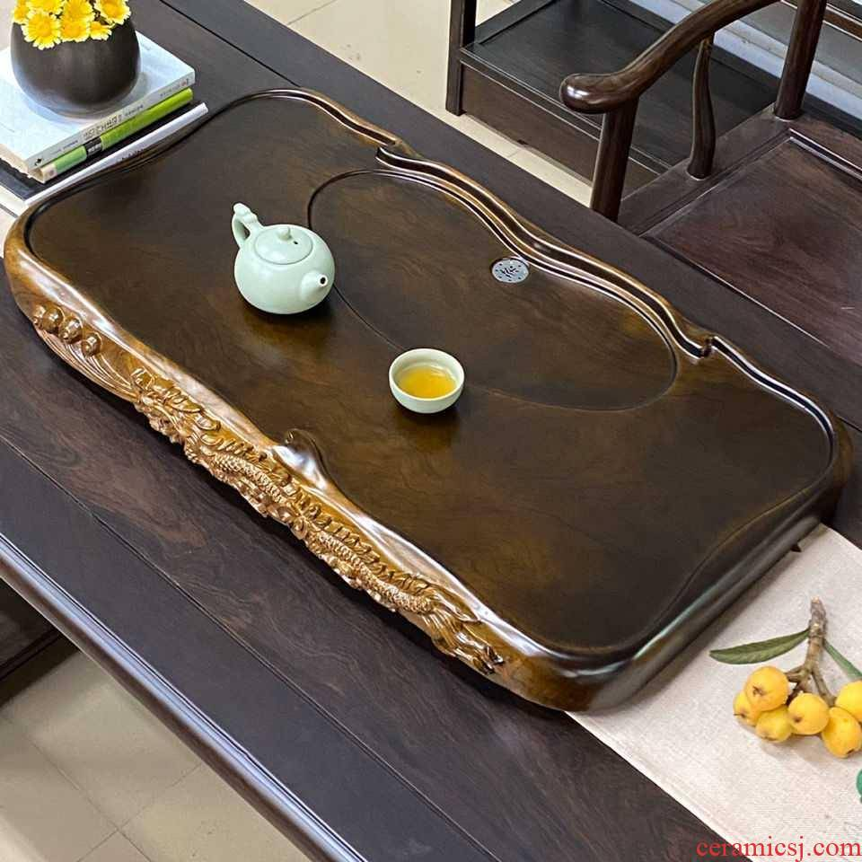 Tea tray Tea Tea tray household kunfu Tea table of a complete set of rectangular blocks drainage plate