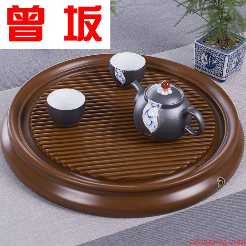 Once sitting bakelite tea tray bakelite electric bakelite ground tea sea kung fu tea set straight round edge drainage type tea table