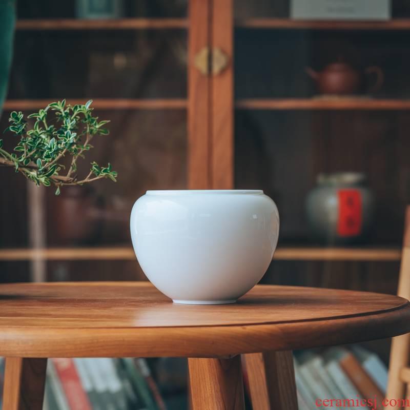 Made in ceramic water jar in hot tea household washing cylinder kung fu tea accessories large built water tea zero writing brush washer
