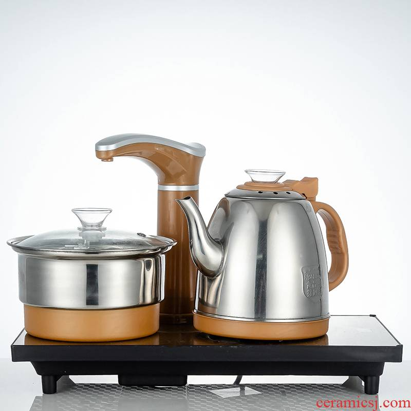Automatic water at the bottom of the electric kettle pumping tea tea is special suit glass tea table one boiler