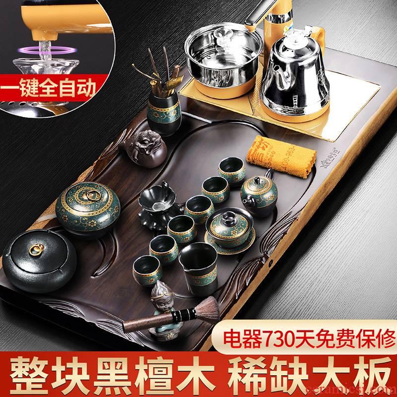 It still lane black sandal wood tea tray, suit a whole household tea set solid wood tea sea four one sitting room automatic restoring ancient ways