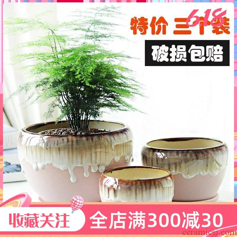 Special rich tree money plant potted bracketplant ceramic flowerpot about high thickening creative celestial being orchid restoring ancient ways