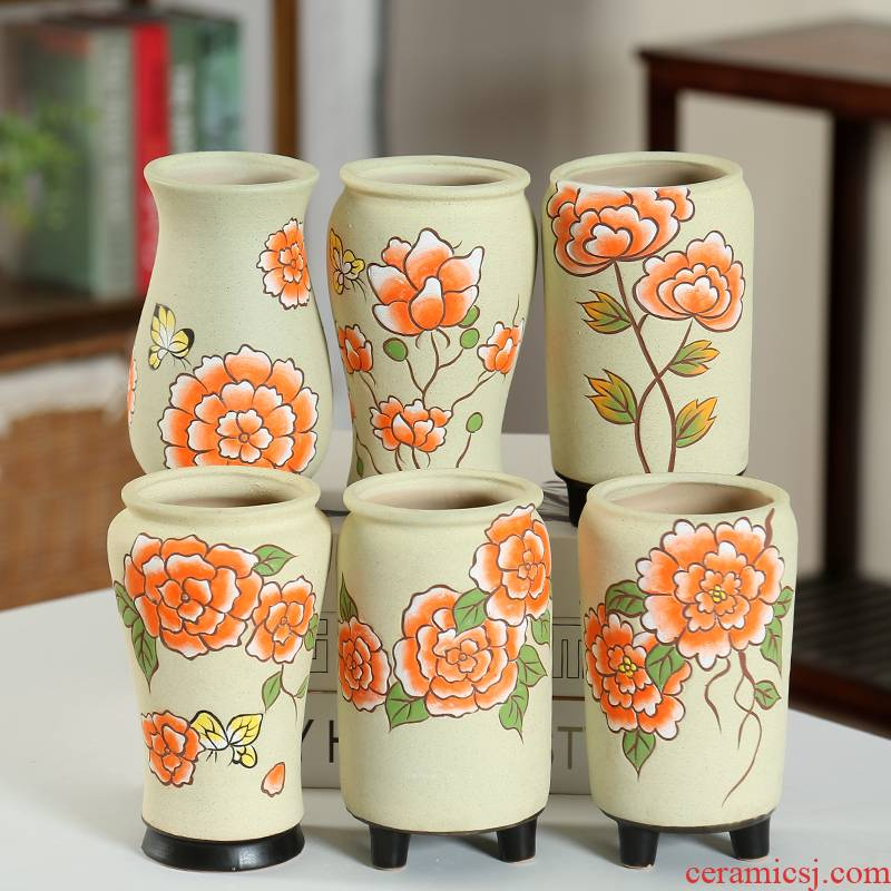 Period delay jubilee fleshy flower pot old running big slogan through pockets tao hand - made meaty plant flower pot package mail coloured drawing or pattern