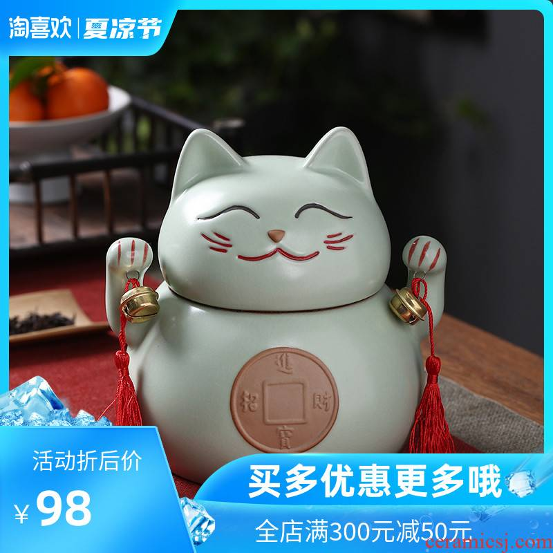 Chang plutus cat ceramic crown caddy fixings your up with dried fruit large seal storage tank sitting room adornment tea tins