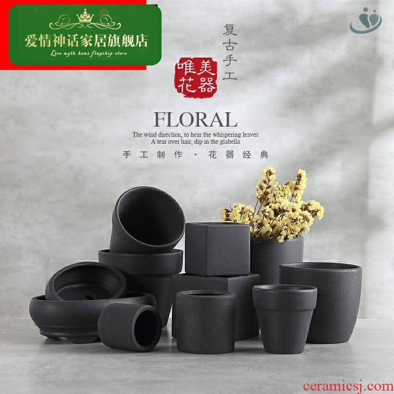 Asparagus pot landscape flower pot black red TaoBai air as the made of baked clay basin of fleshy red pot violet arenaceous basin of orchids