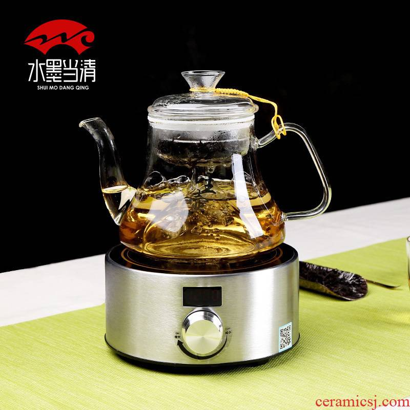 Curing pot hot automatic household thickening glass boiled tea; Preventer electric cooking pot flower pot office