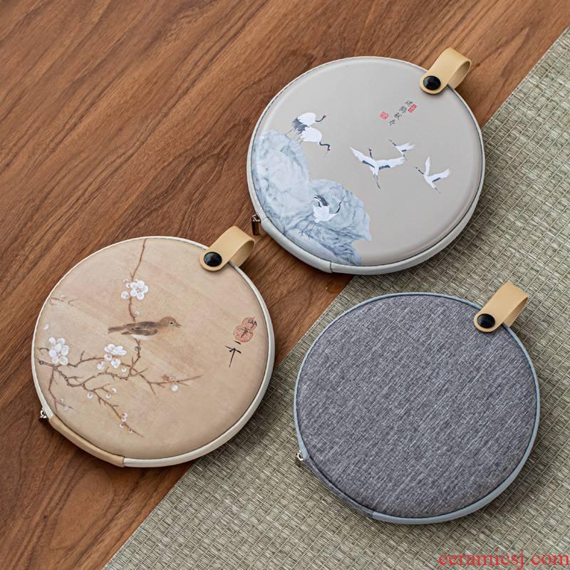 Puer tea box to receive bag portable travel tea cake storage bag creative Chinese tea cake receive bag tea boxes