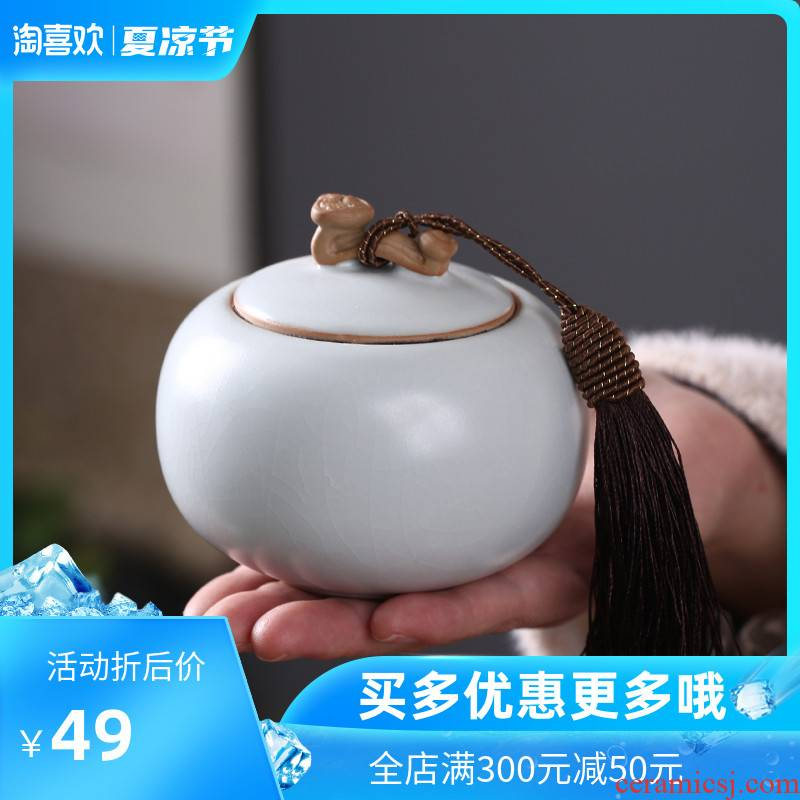The Crown chang your up porcelain pot storage creative seal tea packaging on your porcelain to restore ancient ways small caddy fixings tea warehouse inventory