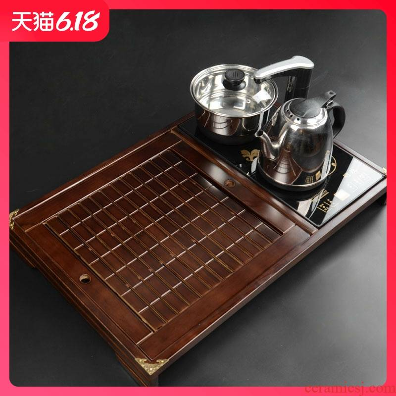 Guest comfortable manufacturers shot real wood kembat hugely increased hold induction cooker electric tea tray tea set of a complete set of four unity