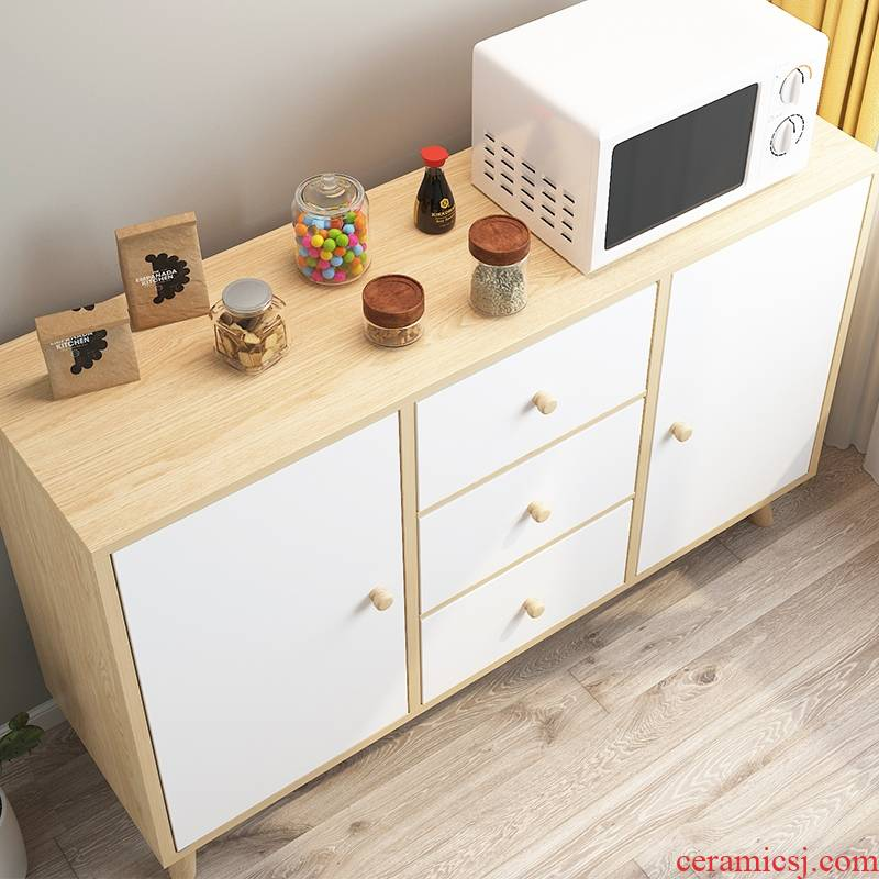Eat edge ark, I and contracted household storage cabinet with Scandinavian simple kitchen feel economical cupboard tea tank