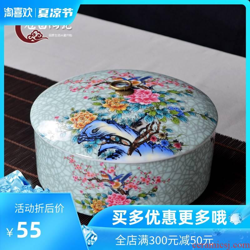 The Crown, jingdezhen ceramic tea pot puer tea cake size optional can use multilayer superposition
