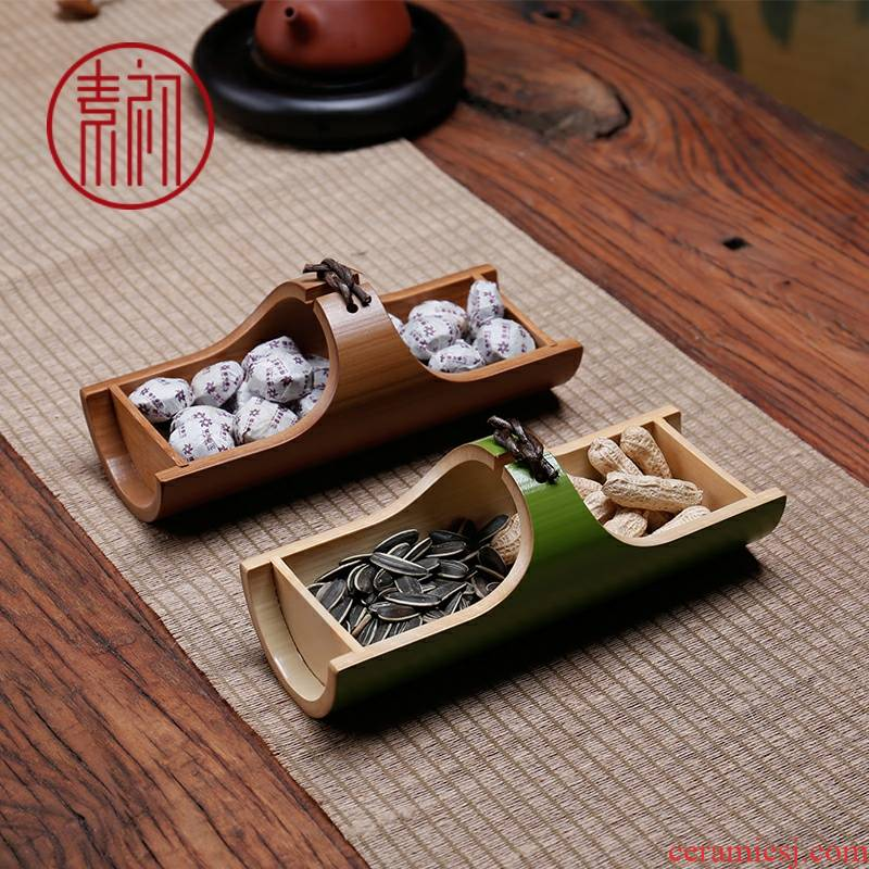 Element in the early tea tray household dry fruit tray seeds disc creative snack plate sitting room of Chinese style tea zen I and contracted