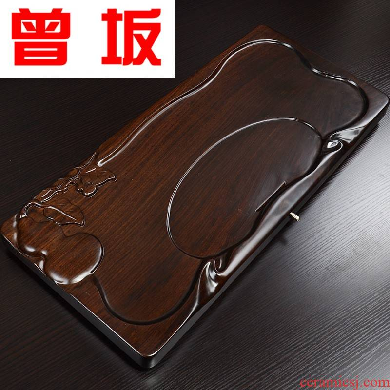Once sitting ebony suit kung fu tea tray tea sets tea four unity appliances. In a