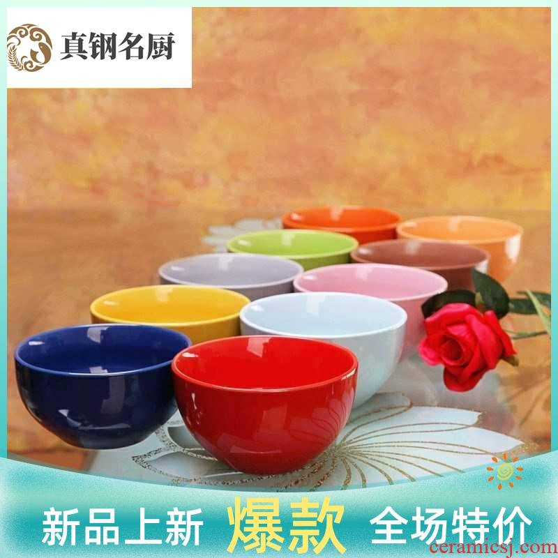 The Chinese style and contracted bowl dish up tableware candy color suits for ikea with restoring ancient ways