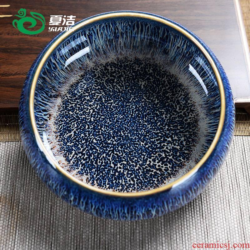 Four - walled yard large tea wash to wash to kung fu tea accessories ceramic cup writing brush washer, water basin storage jar tea cups