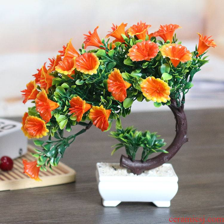 Fake flower simulation flower bouquets of plastic flowers sitting room adornment inside the bedroom home decoration flower tea table table small ball