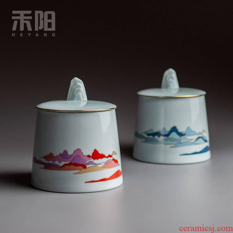 Send Yang caddy fixings ceramic seal pot home storage tank storage POTS kung fu tea set small POTS gift boxes