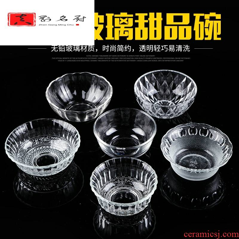Transparent glass bowl of salad bowl with Korean creative Japanese dessert cutlery bowl of sweet soup bowl