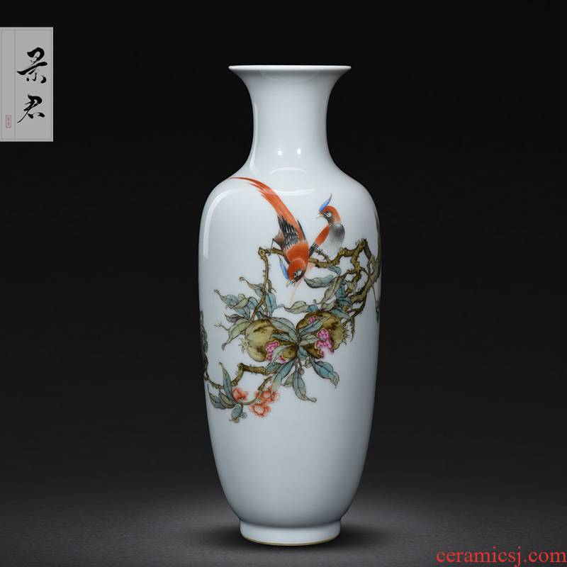 Jingdezhen hand - made wooden stick bottle master porcelain vase furnishing articles ceramic sitting room decoration as ceramic flower vases