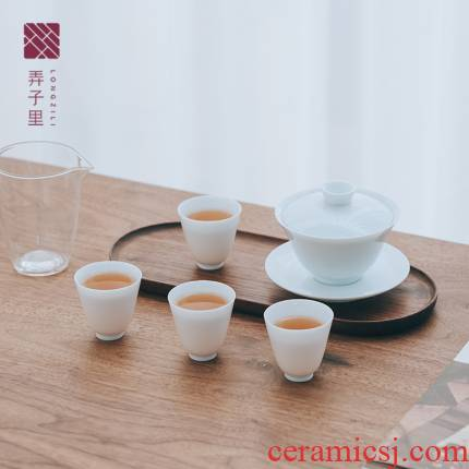 In spite of his flaws In children with fragrance suit of kung fu tea sets tureen tea cups with a complete set of tea cups
