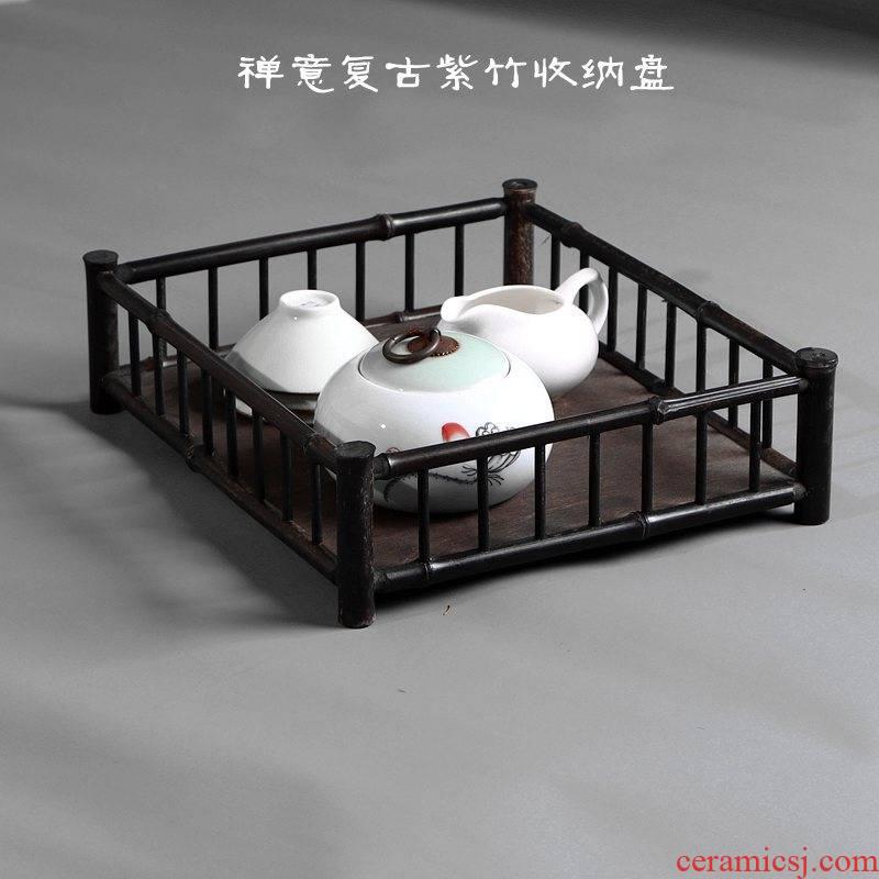 True sheng zen zizhu saucer dish dry tea dish bamboo bamboo tea stall tea tea set to receive the tray tea tray