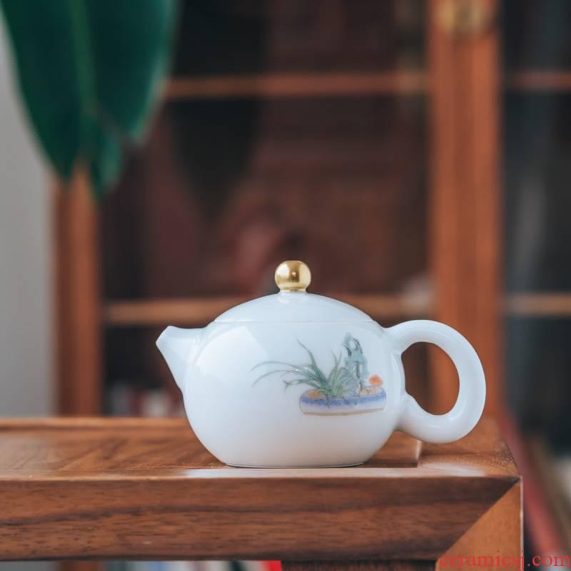 Lane. Jingdezhen 106 mud pure manual hand - made antique grain gas up xi shi pot of 160 ml