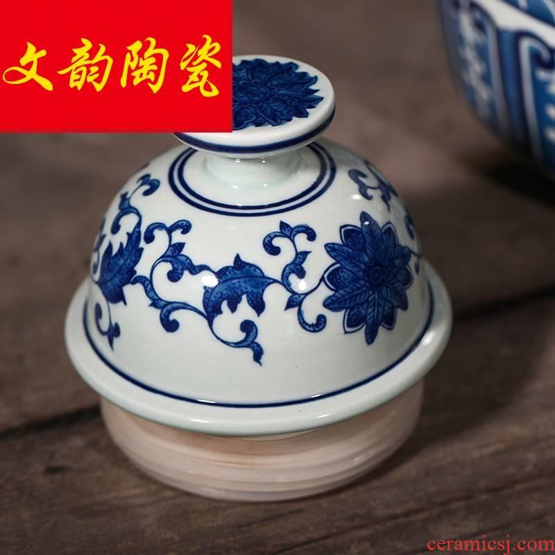 Hand - made porcelain of jingdezhen ceramic jars 25 kg sealed jar youligong it hip mercifully wine bottles