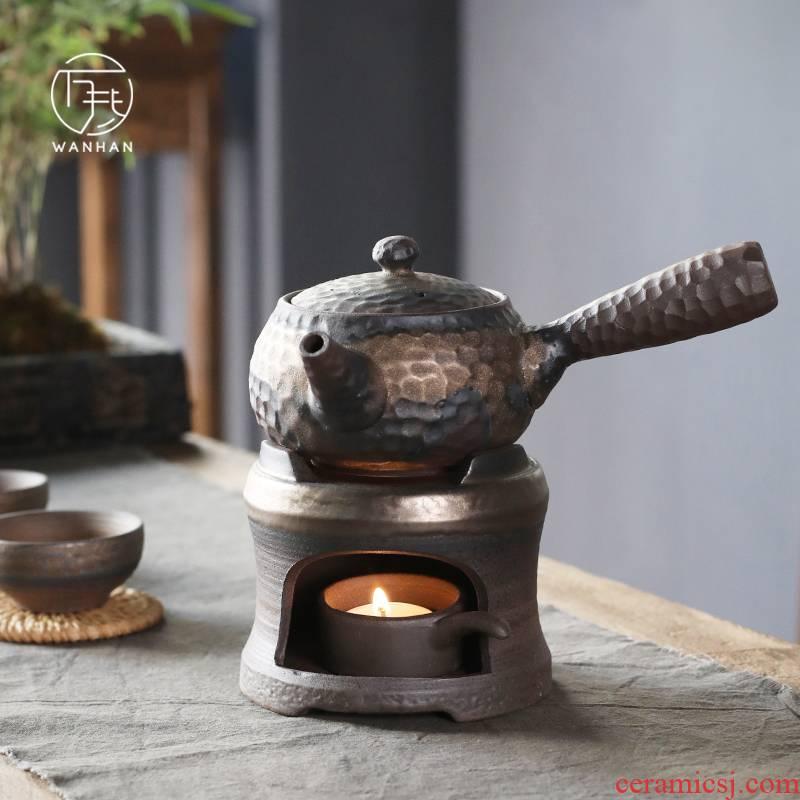 Coarse pottery hammer side boil pot of ceramic Japanese based heating pot set teapot household kung fu tea pot