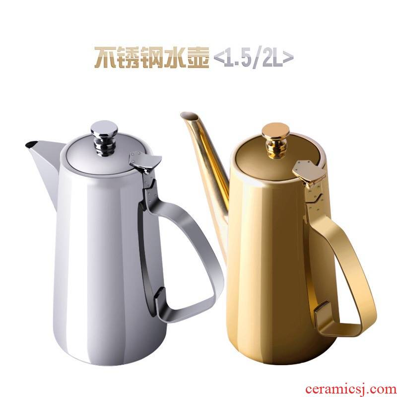Cold upset stainless steel kettle ltd. restaurants and thicken hotpot restaurant soup kettle hotel room home the teapot