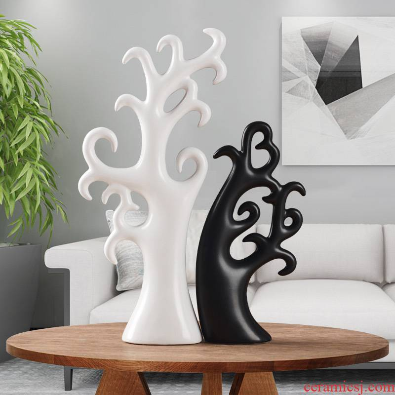 The sitting room The bedroom wine accessories marriage tree Nordic furnishing articles furnishing articles creative ceramic crafts are love gift