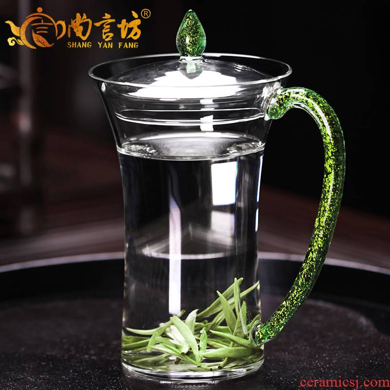 It still fang filtration separation of tea cups with cover three cups of kung fu tea cup men 's and' s office cup