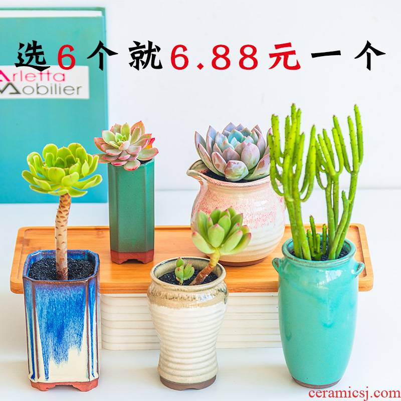 Fleshy flower - pot high breathable, tao tao meaty plant small ceramic purple orchid big running high pot specials