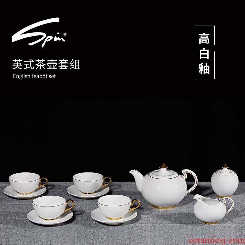 Spin the see British English afternoon tea tea tea cozy group suit the teapot cup of black tea tea sugar milk as cans