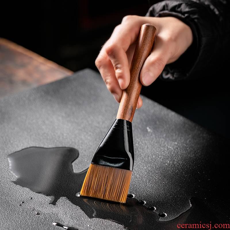 Fujian and ebony wood YangHuBi tea sets out ground maomao brush with large kung fu tea tea taking with zero