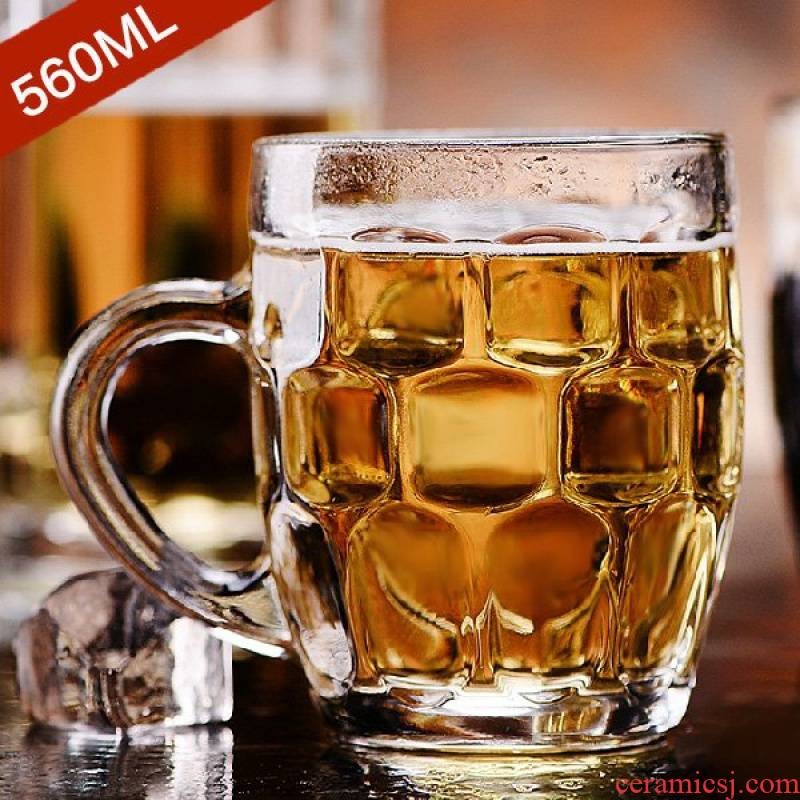 Draft beers cup 1/3/6 only large glass pineapple beer heat - resistant glass tea cup set glass cup