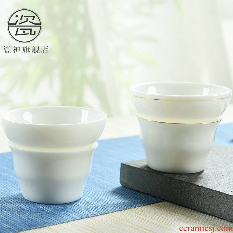 Dehua porcelain god built white jade porcelain) kung fu tea accessories make tea strainer ceramic tea set tea filters