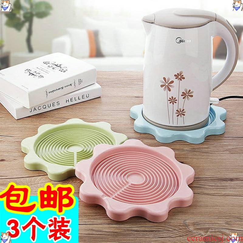 Hot water kettle mat insulation pad home general thermos GMBH cup mat plate (base drop tray