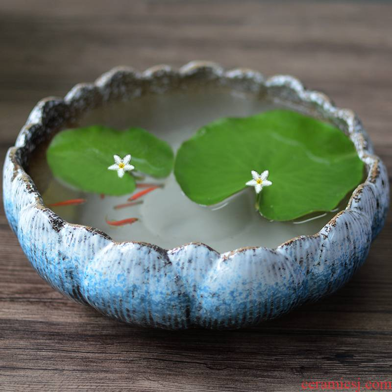 The Leaf of lotus bud indoor aquatic good keep everblooming located brought basin hydroponic flower pot ceramic package mail