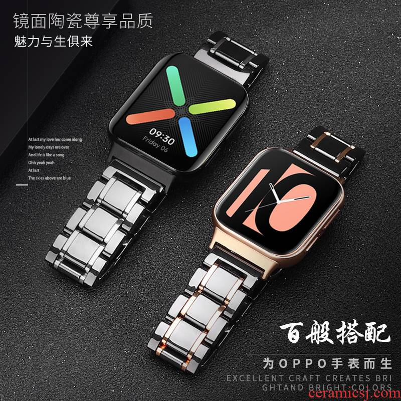 Oppo wristwatch Oppo watchbands ceramic bracelet watch intelligence 46 mm replace with 41 mm wristbands iboann flagship store the original accessories high - end business men and women