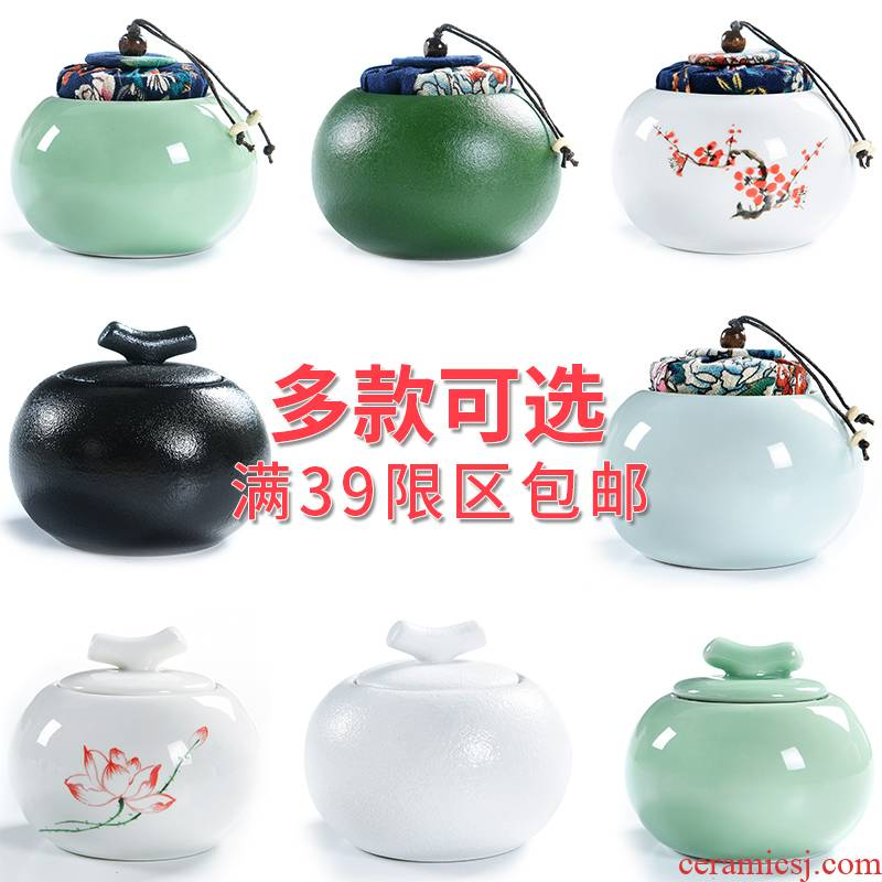 Elder brother up with porcelain god caddy fixings ceramic seal tank sizes of pu 'er tea box storage tanks