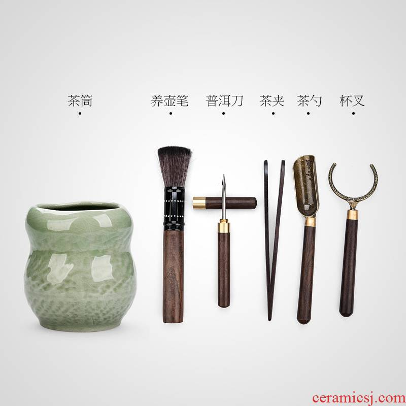 Creative elder brother up kung fu tea accessories tea spoon, knife ChaGa YangHuBi tea six gentleman tea accessories